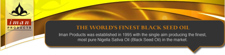THE WORLD'S FINEST BLACK SEED OILIman Products was established in 1995 with the single aim producing the finest, most pure Nigella Sativa Oil (Black Seed Oil) in the market.